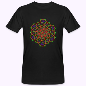 Flower of Live Twisted UV-Active Organic - Mannen Bio-T-shirt