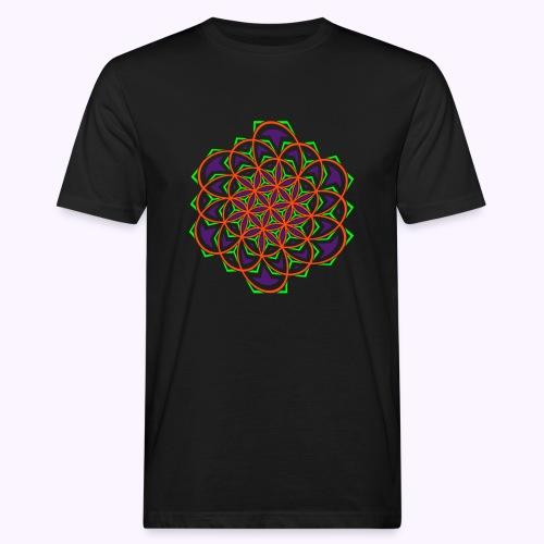 Flower of Live Twisted UV-Active Organic - Men's Organic T-Shirt