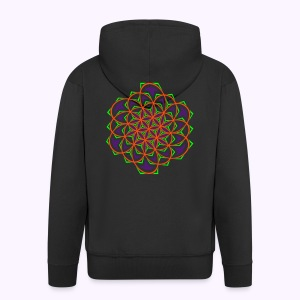 Flower of Life 1 Hooded Jacket - Premium Hettejakke for menn