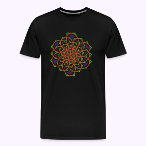 Flower of Life 1 Men Premium S-5XL - Mannen Premium T-shirt