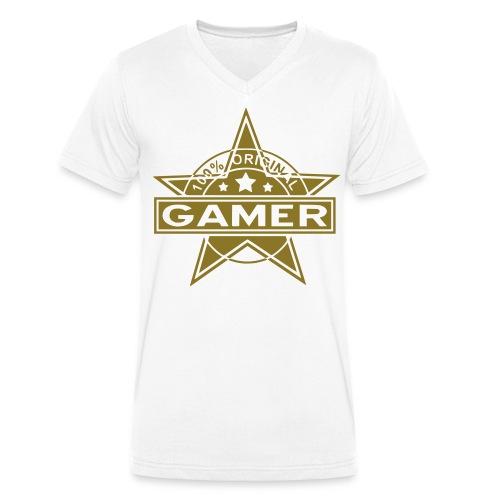 100 % Original gamer! - Men's Organic V-Neck T-Shirt by Stanley & Stella