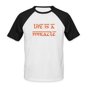 LIFE IS A MIRACLE - T-shirt baseball manches courtes Homme