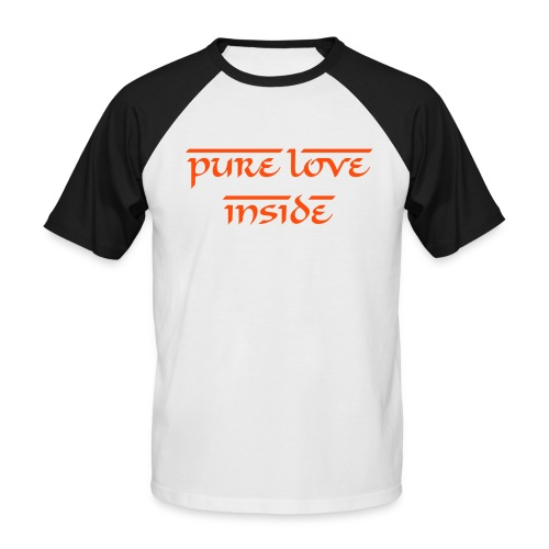 PURE LOVE INSIDE - T-shirt baseball manches courtes Homme
