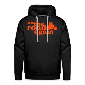 Sweat à capuche Homme Black&Orange - Sweat-shirt à capuche Premium pour hommes