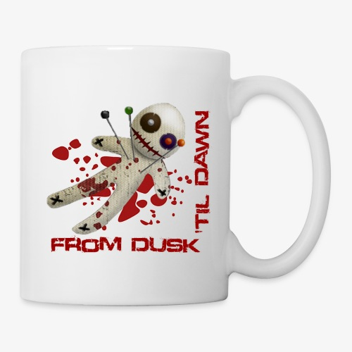 Mug - Coffee Mug with the From Dusk 'til Dawn Voodoo Doll logo on one side