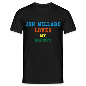 willard loves my rabbits - Men's T-Shirt