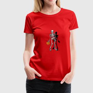 skelet basketbal T-shirts - Vrouwen Premium T-shirt