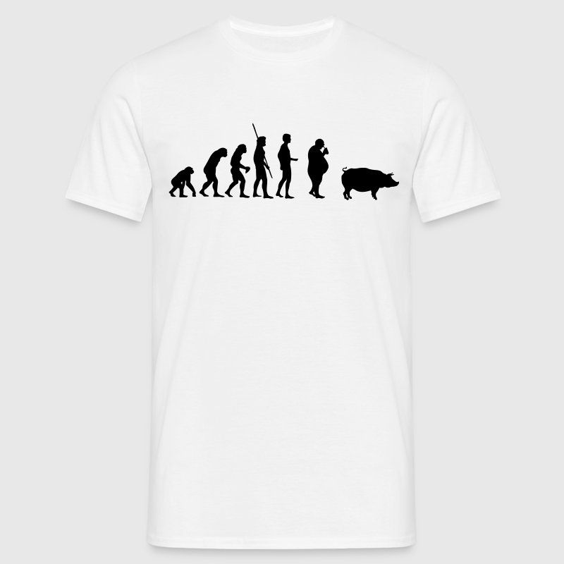 Evolution Pig  T-Shirts - Men's T-Shirt