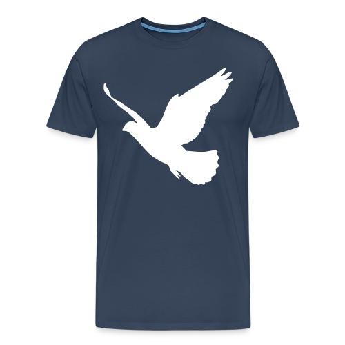Bird Tee ~ Navy - Men's Premium T-Shirt