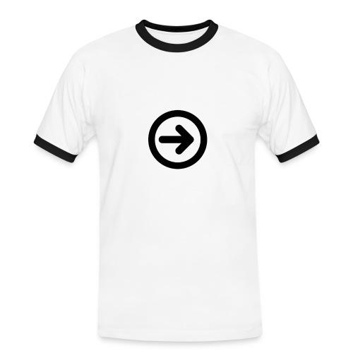 w3devcapus_men_white_shirt - Men's Ringer Shirt