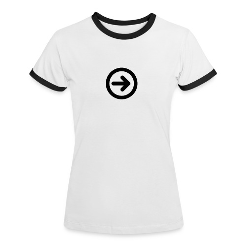 w3devcampus_women_white_shirt - Women's Ringer T-Shirt