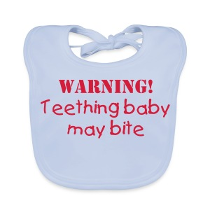 Warning! Teething baby may bite bib - Baby Organic Bib