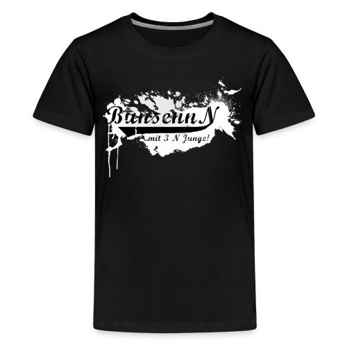 TEENAGER Shirt Weiß/Schwarz - Teenager Premium T-Shirt