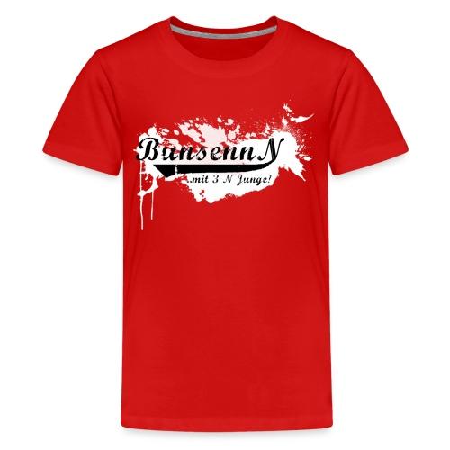TEENAGER Shirt Rot/Weiß - Teenager Premium T-Shirt