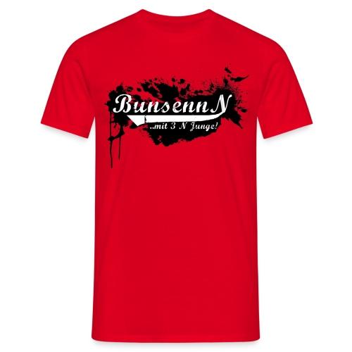 Tshirt Rot Logo Schwarz Neu - Männer T-Shirt