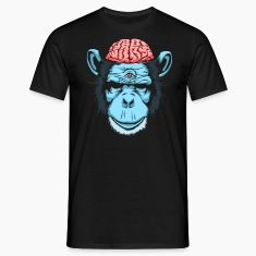 Sort Brain Chimp T-shirts