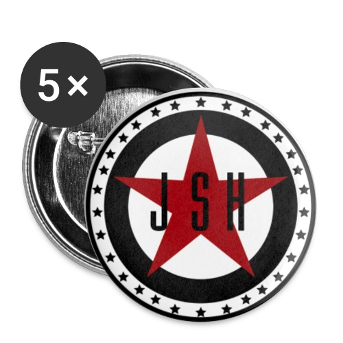 JSH Button Set S Logo #13-rb - Buttons small 1''/25 mm (5-pack)