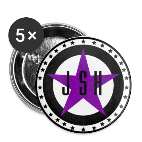 JSH Button Set S Logo #13-pb - Buttons small 1''/25 mm (5-pack)