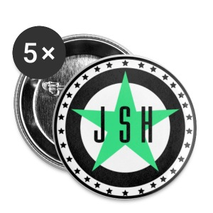 JSH Button Set S Logo #13-gb - Buttons small 25 mm
