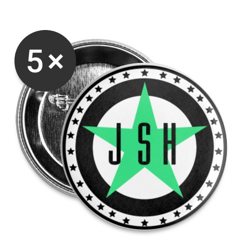 JSH Button Set S Logo #13-gb - Buttons small 1''/25 mm (5-pack)