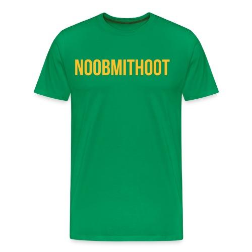 noobmithoot T-Shirt - Männer Premium T-Shirt
