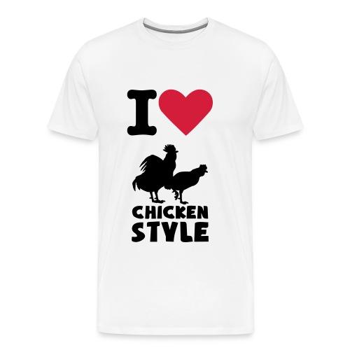 I Love Chicken Style - Men's Premium T-Shirt