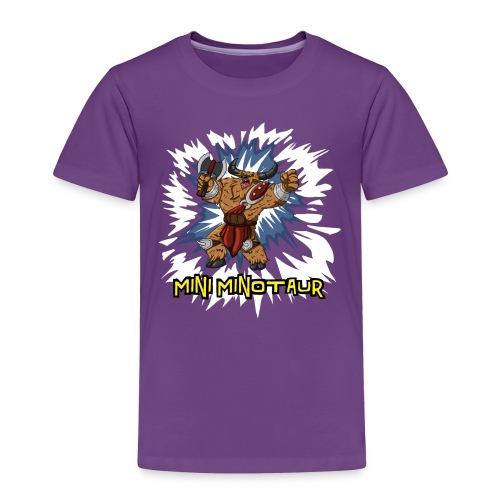 Mini Minotaur (Dark Shirt Design) - Kids' Premium T-Shirt