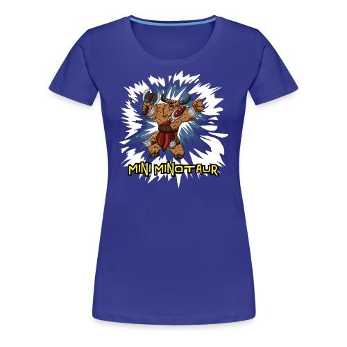 Mini Minotaur (Dark Shirt Design) - Women's Premium T-Shirt