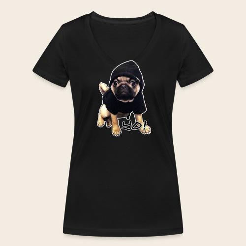 Yo! Mops T-Shirt - Frauen Bio-T-Shirt mit V-Ausschnitt von Stanley & Stella