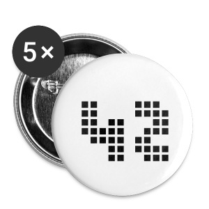 42 h2g2 en 42 points - Badge petit 25 mm