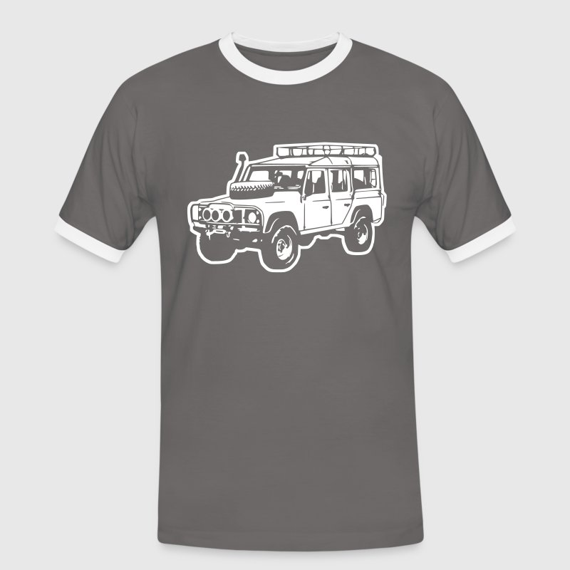 Land Rover Defender, Jeep, SUV Tee shirts - T-shirt contraste Homme