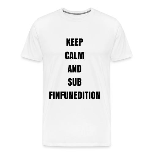 Miesten premium t-paita - keep calm and sub finfunedition