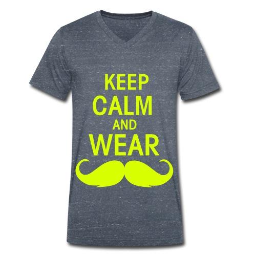 Schnurrbart - Männer Bio-T-Shirt mit V-Ausschnitt von Stanley & Stella