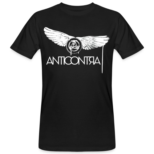 AntiContra Wings sprayed - Männer Bio-T-Shirt