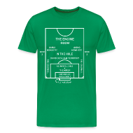 T-Shirts ~ Men's Premium T-Shirt ~ Mapping the Modern Football Pitch