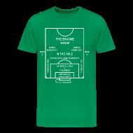 T-Shirts ~ Men's Premium T-Shirt ~ Mapping the Modern Football Pitch