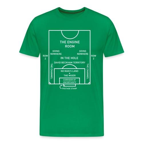 Mapping the Modern Football Pitch - Men's Premium T-Shirt