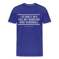 T-Shirts ~ Men's Premium T-Shirt ~ Cold, Wet Wednesday in Rochdale