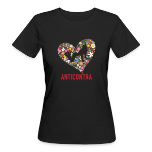 AntiContra Heart - Frauen Bio-T-Shirt