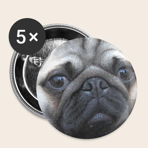 Mops Blick Button - Buttons klein 25 mm