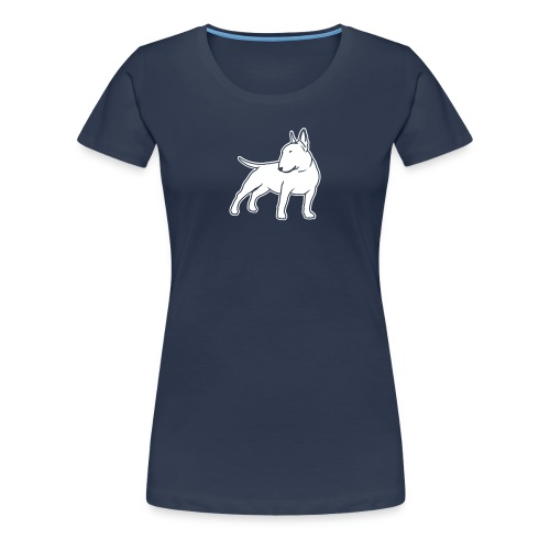 Bull Terrier CN single 1c 4dark - Women's Premium T-Shirt