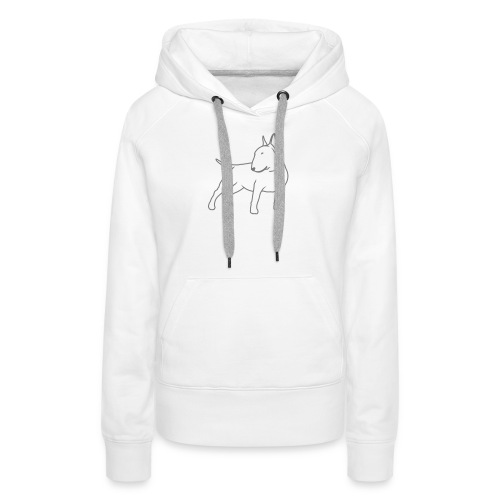 Bull Terrier CN single 1c 4light - Women's Premium Hoodie