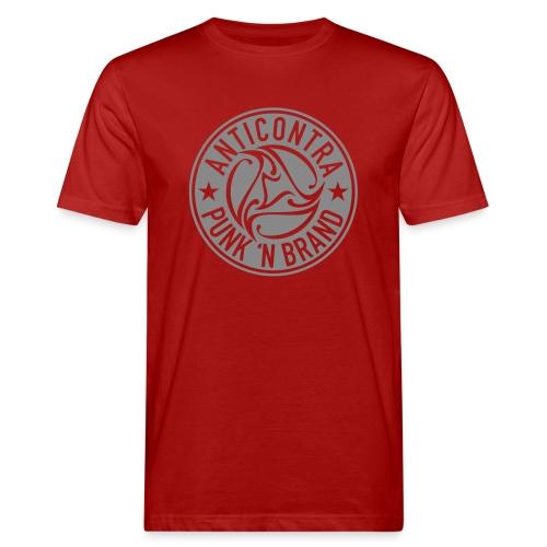 AntiContra Silver Dollar - Männer Bio-T-Shirt