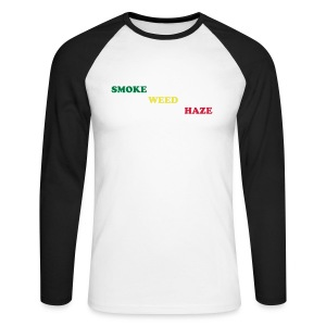 Weed Smoke Haze - T-shirt baseball manches longues Homme