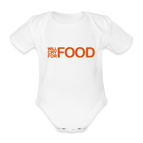 Cry Food - Organic Short-sleeved Baby Bodysuit