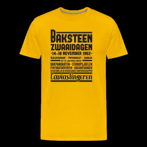Baksteenzwaaidagen mannen premium - Mannen Premium T-shirt