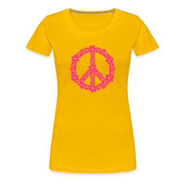 PEACE SYMBOL - rauhan symboli, c, symbol of freedom, flower power, hippie, 68er movement, Woodstock T-paidat