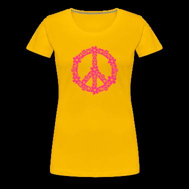 PEACE SYMBOL - rauhan symboli, c, symbol of freedom, flower power, hippie, 68er movement, Woodstock T-paidat