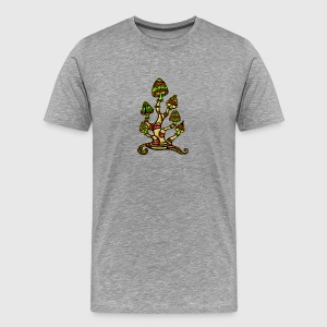 Magic mushrooms, psychedelische Pilze, Wunderland  - Männer Premium T-Shirt