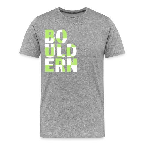 Bouldern Schriftzug - Männer Premium T-Shirt